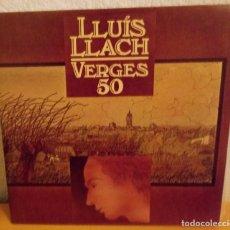 Discos de vinilo: J - LLUIS LLACH - VERGES 50. Lote 187147651