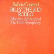 Discos de vinilo: BILLY THE KID RODEO . AARON COPLAND. . Lote 187148297