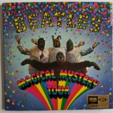 Discos de vinilo: THE BEATLES - MAGICAL MYSTERY TOUR - ODEÓN - ESPAÑA - 1967 - MONO - GATEFOLD - 2 EPS - LIBRO 28P. EX. Lote 185726312