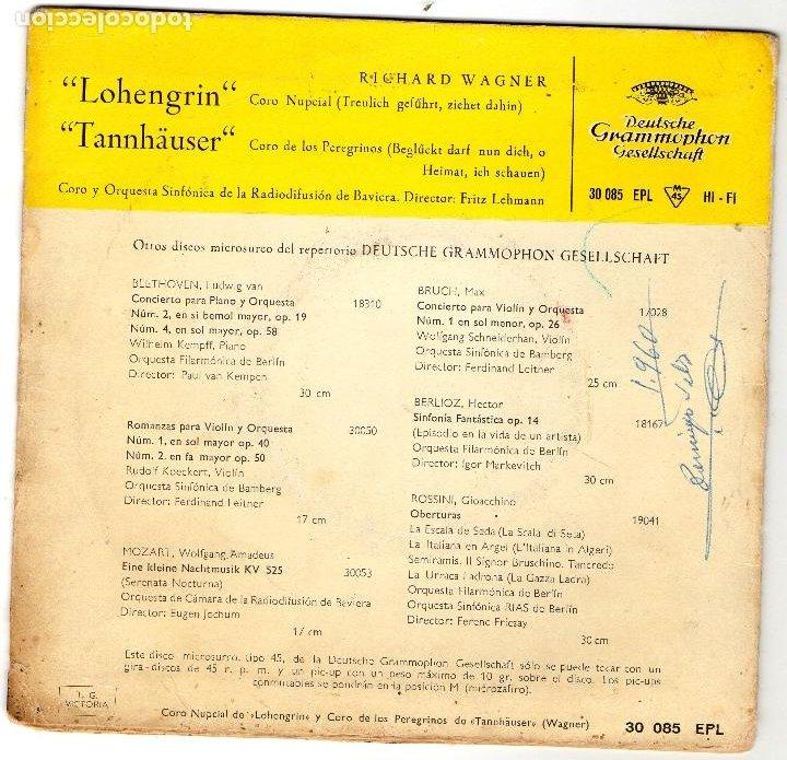Discos de vinilo: RICHARD WAGNER - LOHENGRIN - TANNHAUSER - EP. - Foto 2 - 187152947