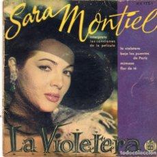 Discos de vinilo: SARA MONTIEL - LA VIOLETERA + 3 EP.S. Lote 187153766
