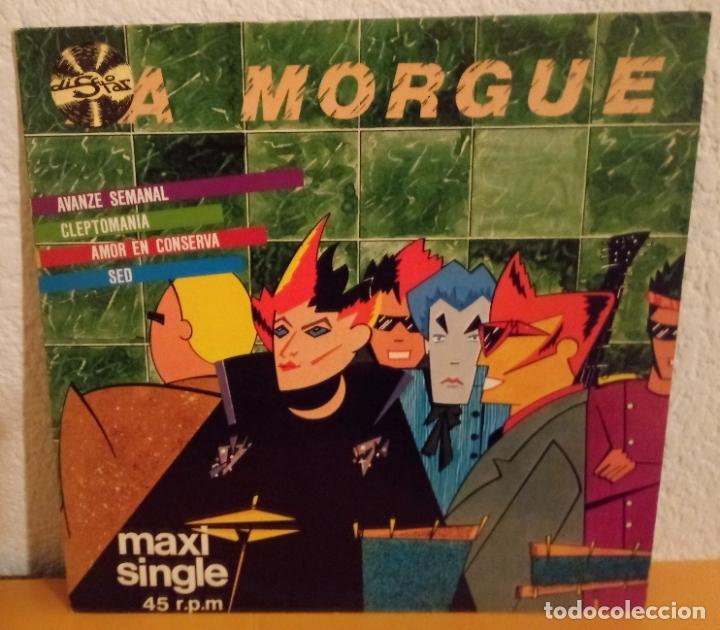 J - LA MORGUE - AVANZE SEMANAL - CLEPTOMANIA - AMOR EN CONSERVA - SED (Música - Discos de Vinilo - Maxi Singles - Grupos Españoles de los 70 y 80)