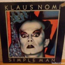 Discos de vinilo: J - KLAUS NOMI - SIMPLE MAN - HOMBRE SENCILLO. Lote 187158315