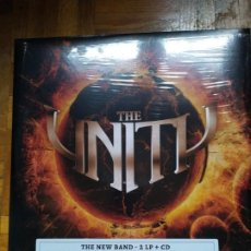 Discos de vinilo: THE UNITY ONE WORLD, ONE FAITH ONE UNITY (GAMMA RAY, HELLOWEEN) 2 LPS Y CD. Lote 187173583