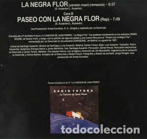 Discos de vinilo: Radio Futura – La Negra Flor - Foto 2 - 187178663