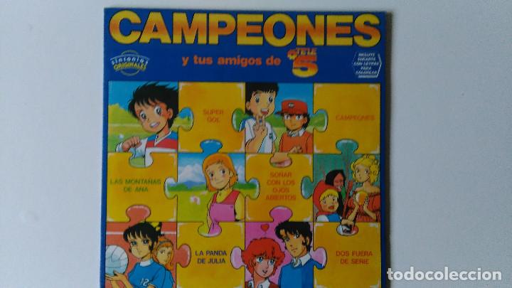 CAMPEONES Y TUS AMIGOS DE TELE 5 (1990) (Música - Discos de Vinilo - EPs - Música Infantil)