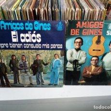 Discos de vinilo: AMIGOS DE GINES HH45-1167 Y HH16-728. Lote 187188876
