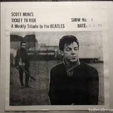 Discos de vinilo: BEATLES - SCOTT MUNI'S TICKET TO RIDE - DOBLE LP PARA LA RADIO - RARISIMO - 1985 - NO CORREOS. Lote 187190362