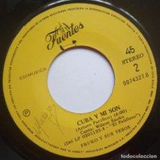 Discos de vinilo: FRUKO Y SUS TESOS - LOS PATULEKOS / CUBA Y MI SON SINGLE PERUANO - DISCOS FUENTES - SALSA. Lote 187190495
