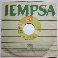 Discos de vinilo: EDDIE SANTIAGO - LLUVIA / INSACIABLE - SINGLE PERUANO 1988 - IEMPSA - SALSA. Lote 187194760