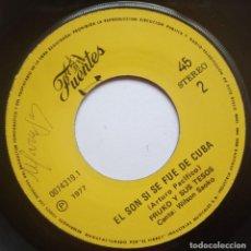 Discos de vinilo: FRUKO Y SUS TESOS - EL NEGRO CHOMBO / EL SON SI SE FUE DE CUBA - SINGLE PERUANO 1977 - DISCOS FUENTE. Lote 187197640