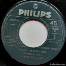 Discos de vinilo: SONORA PALACIOS - NEGRA SOLEDAD / CAMDOMBE PARA JOSE - SINGLE PERUANO - PHILIPS. Lote 187198366