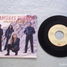 Discos de vinilo: DISCO SINGLE VINILO TAHURES ZURDOS. AFILADAS PALABRAS/CAMALEON 45 RPM.B 1991. Lote 187201987
