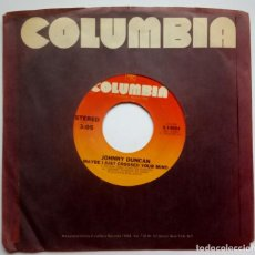 Discos de vinilo: JOHNNY DUNCAN - SHE CAN PUT HER SHOES / MAYBE I JUST - SINGLE USA 1978 - COLUMBIA. Lote 187212601