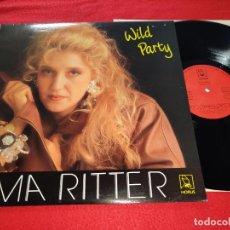 Discos de vinilo: MA RITTER WILD PARTY LP 1988 HORUS SPAIN. Lote 187224096