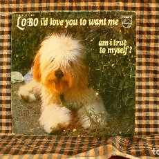 Discos de vinilo: LOBO – I'D LOVE YOU TO WANT ME / AM I TRUE TO MYSELF, 1972, PHILIPS – 60 73 814. . Lote 187232973