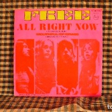 Discos de vinilo: FREE – ALL RIGHT NOW / MOUTHFUL OF GRASS,1970, PHILIPS – 60 68 013. . Lote 187235440
