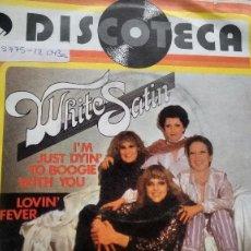 Discos de vinilo: SINGLE ( VINILO) DE WHITE SATIN AÑOS 70. Lote 187245937