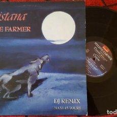 Discos de vinilo: MYLENE FARMER **TRISTANA - DJ REMIX** MAXI SINGLE VINILO 1987 FRANCIA MADONNA. Lote 187261487