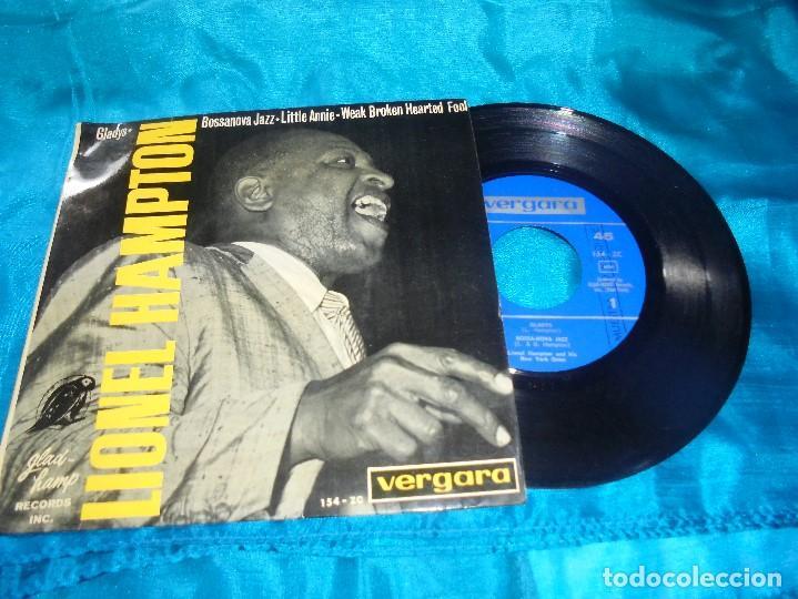 LIONEL HAMPTON. GLADYS / BOSSANOVA JAZZ + 2. EP. VERGARA, 1964. PROMOCIONAL. SPAIN. IMPECABLE (#) (Música - Discos de Vinilo - EPs - Jazz, Jazz-Rock, Blues y R&B)