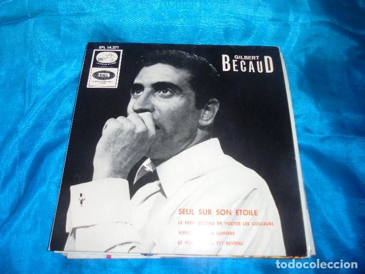 GILBERT BECAUD. SEUL SUR SON ETOILE + E. EP. LA VOZ DE SU AMO, 1966. PROMOCIONAL . SPAIN. IMPECA (#) (Música - Discos de Vinilo - EPs - Canción Francesa e Italiana)