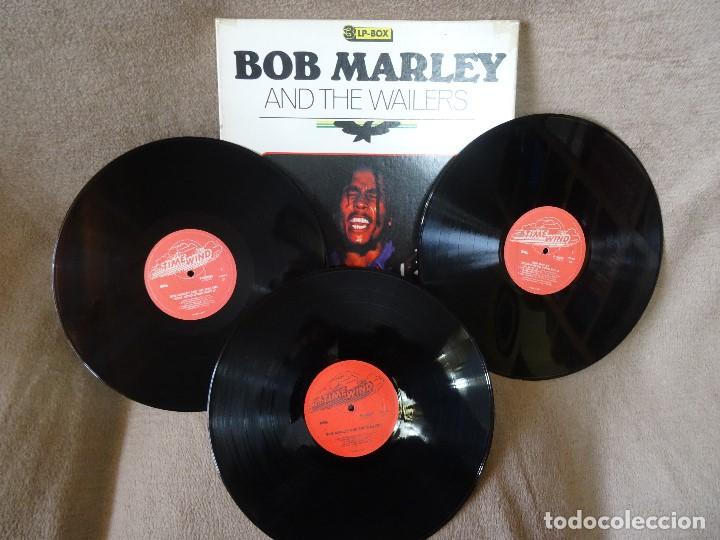 Discos de vinilo: BOB MARLEY AND THE WAILERS 3 LP´S BOX TIME WIND F/50027-28 Y 29 - Foto 2 - 187297020