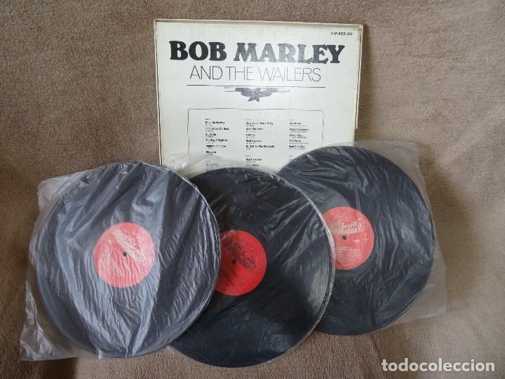 Discos de vinilo: BOB MARLEY AND THE WAILERS 3 LP´S BOX TIME WIND F/50027-28 Y 29 - Foto 9 - 187297020