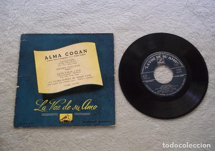 DISCO SINGLE VINILO ALMA COGAN SKOKIAN/MAMBO ITALIANO LA VOZ DE SU AMO 45 RPM.B (Música - Discos de Vinilo - EPs - Canción Francesa e Italiana)