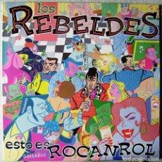 Discos de vinilo: LOS REBELDES.ESTO ES ROCANROL...1ª EDICION..COMO NUEVO. Lote 187320915