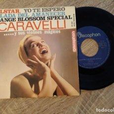 Discos de vinilo: CARAVELLI Y SUS VIOLINES MÁGICOS.TELSTAR,YO TE ESPERO ETC..1963.. Lote 187326497