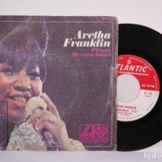 Discos de vinilo: DISCO SINGLE DE VINILO - ARETHA FRANKLIN / PIENSA, ME EMOCIONAS - ATLANTIC - AÑO 1968. Lote 187328280