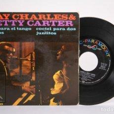 Discos de vinilo: DISCO EP DE VINILO - RAY CHARLES & BETTY CARTER / DOS PARA EL TANGO - ABC PARAMOUNT - AÑO 1963. Lote 187328338