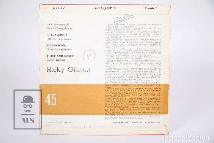 Discos de vinilo: Disco EP De Vinilo - Ricky Gianco / Eva, Iltramonto... - Vergara - Año 1963 - Foto 4 - 187328342