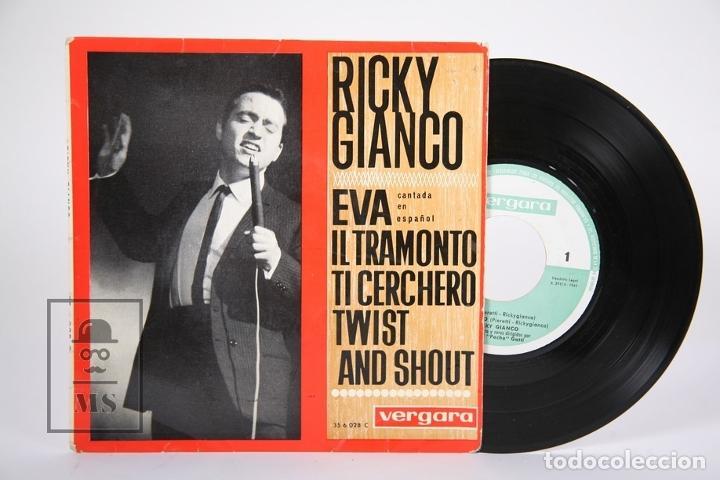 DISCO EP DE VINILO - RICKY GIANCO / EVA, ILTRAMONTO... - VERGARA - AÑO 1963 (Música - Discos de Vinilo - EPs - Canción Francesa e Italiana)