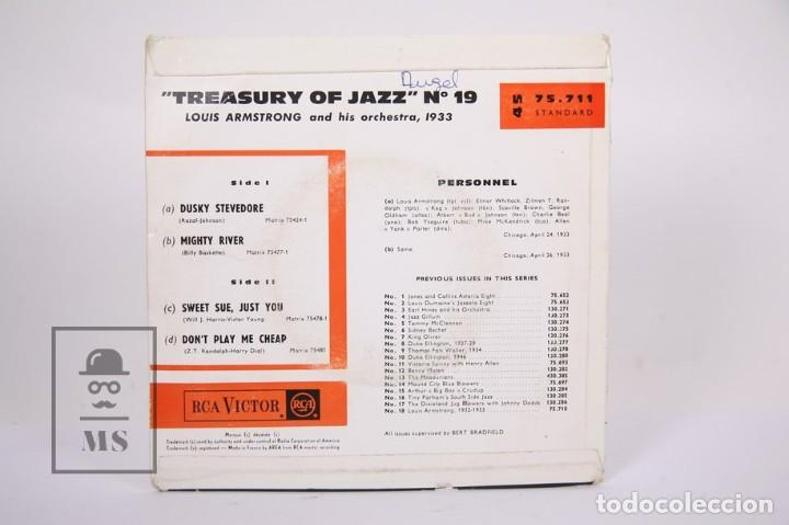 Discos de vinilo: Disco EP De Vinilo - Louis Armstrong and His Orchestra / Dusky Stevedore...- RCA Victor, Francia - Foto 3 - 187329035
