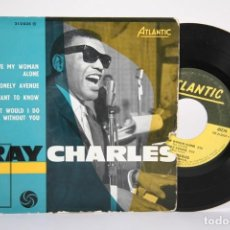 Discos de vinilo: DISCO EP DE VINILO - RAY CHARLES / LEAVE MY WOMAN, ALONE... - ATLANTIC - FRANCIA. Lote 187329817