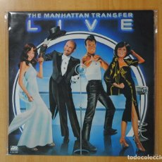 Discos de vinilo: THE MANHATTAN TRANSFER - LIVE - LP. Lote 187373381