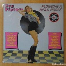 Discos de vinilo: SEX PISTOLS - FLOGGING A DEAD HORSE - LP. Lote 187373885