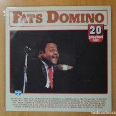 Discos de vinilo: FATS DOMINO - 20 GREATEST HITS - LP. Lote 187373997