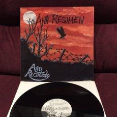 Discos de vinilo: ANTI-REGIMEN - AÚN RECUERDO LP, 1990, ESPAÑA. Lote 187390580