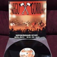 Discos de vinilo: NEGU GORRIAK - HIPOKRISIARI STOP! (BILBO 93-X-30), LP GATEFOLD, 1994, OPORTUNIDAD!!!. Lote 187391861