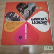 Discos de vinilo: CANCIONES LEONESAS. Lote 187394477