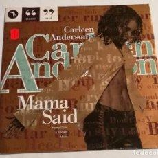 Discos de vinilo: CARLEEN ANDERSON - MAMA SAID - 1994. Lote 187408071