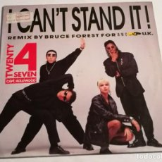Discos de vinilo: TWENTY 4 SEVEN FEATURING CAPT. HOLLYWOOD - I CAN'T STAND IT! (THE REMIX) - 1990. Lote 187408546
