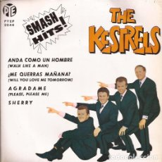 Discos de vinilo: EP THE KESTRELS SMASH HITS! PYE 2044 SPAIN 1963 FOUR SEASONS & BEATLES COVER DOO WOP. Lote 187411793