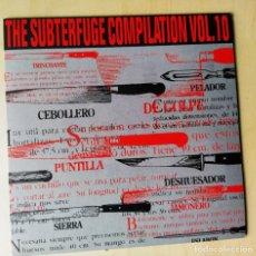 Discos de vinilo: SUBTERFUGE VOL.10/SERIE FANZINE+EP 4 TEMAS INEDITOS/MINT(ANEUROL 50/BONEBREAKERS/R.C.DRUIDS/...). Lote 187417048