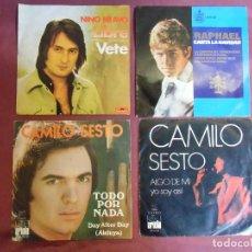 Discos de vinilo: MUSICA ESPAÑOLA:NINO BRAVO,CAMILO SESTO,RAPHAEL,4 DISCOS,VER FOTOS Y DETALLES.. Lote 187422425