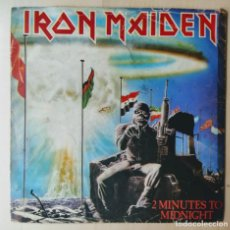 Discos de vinilo: IRON MAIDEN – 2 MINUTES TO MIDNIGHT/SPAIN/SINGLE/1984/VG+(DISTINTO DISEÑO -LOGO IRON MAIDEN-SINGLE). Lote 187423357