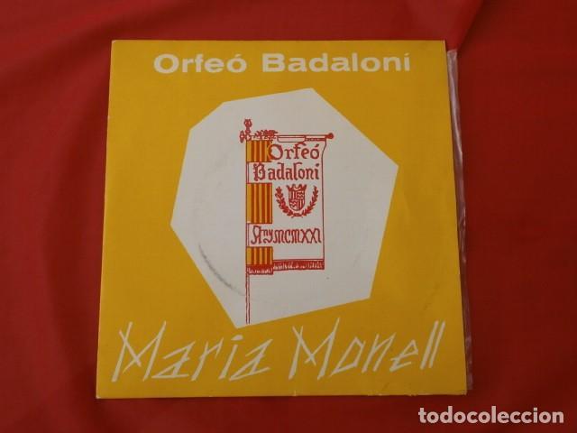 Discos de vinilo: ORFEO BADALONI (SINGLE 1966) MARIA MONELL (RARO) BADALONA - ROMANÇ DE SANTA LLUCIA - CORO ORFEON - Foto 3 - 187426221