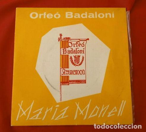 ORFEO BADALONI (SINGLE 1966) MARIA MONELL (RARO) BADALONA - ROMANÇ DE SANTA LLUCIA - CORO ORFEON (Música - Discos - Singles Vinilo - Clásica, Ópera, Zarzuela y Marchas)